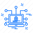 computer, cyber, hacker, lock, protection icon