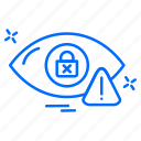 cyber, detector, eye, hacker, protection icon