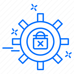 cyber, gear, hacker, protection, setting icon