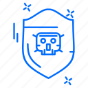 cyber, hacker, protection, security, shield icon
