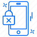 cyber, lock, phone, security, smartphone icon
