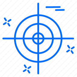 cyber, hacker, protection, target icon