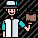 deliveryman, user, package, box, boy