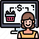shopping, purchasing, online, computer, shop, purchase