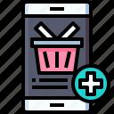 online, shopping, smartphone, basket