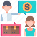 purchasing, exchange, shopping, customer, money