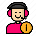 avatar, customer, male, service icon