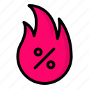 deal, discount, hot, sale icon