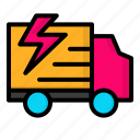 delivery, flash, shipping, truck icon