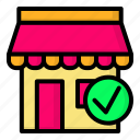 market, official, shop, store icon