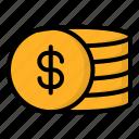 coin, currency, money, reward icon