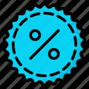 discount, sale, sticker, tag icon