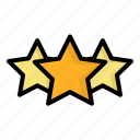 achievement, award, rating, star icon