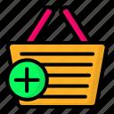 add, basket, cart, ecommerce, shopping icon
