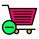 basket, cart, shopping, trolley icon