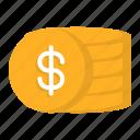 cash, coin, money, reward