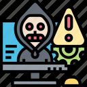 advanced, persistent, threat, ransomware, alert icon