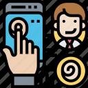 biometric, finger, scanning, identity, authorized