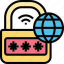 internet, security, locked, passcode, authenticate icon