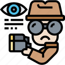 spy, scout, incognito, detective, secret icon