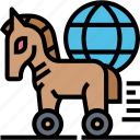 trojan, horse, harmful, virus, disguise