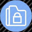 archive, files, folder, lock, private, storage