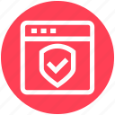 page, secure, security, shield, web, website