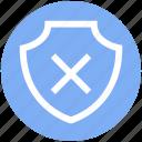 cross, danger, firewall, forbidden, protection, shield