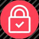 accept, lock, padlock, password, protected, safe, security