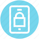 lock, mobile, mobile lock, security, smartphone icon