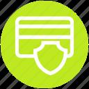 atm card, credit card, debit card, safe, security, shield