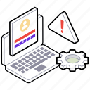 cyber error, cybersecurity, data security, network protection, web security icon