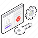privacy maintenance, privacy protection, privacy setting, user login access, web access, website privacy icon