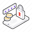 mobile app, mobile finance lock, mobile padlock, mobile protection, mobile security icon