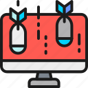 bomb, computer, cyber, danger, data, hacker, virus