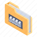 personal folder, confidential folder, private folder, secret folder, classified folder icon