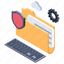 data privacy, data protection, information security, secured access, secured information icon