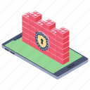 firebreak, firewall, firewall security, network access, network protection icon