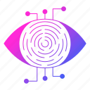 cyber security, eye, network protection, retina, scanner icon