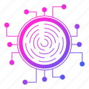 crypto, cyber security, fingerprint, id, network protection icon