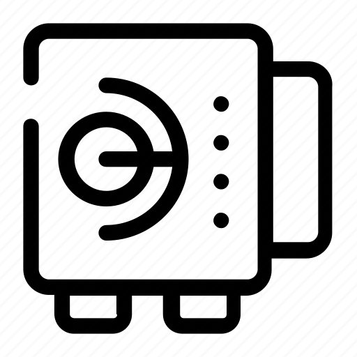bank safe, bank storage, safe, secure storage, strongbox icon