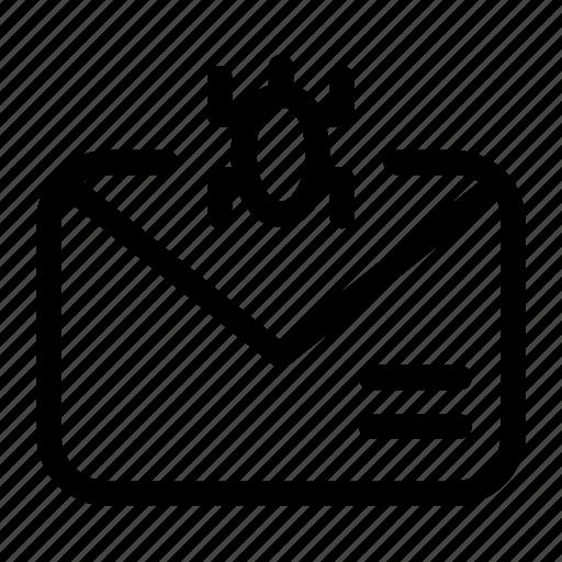 computer virus, e-threat, email trojan, email virus, mail, virus icon