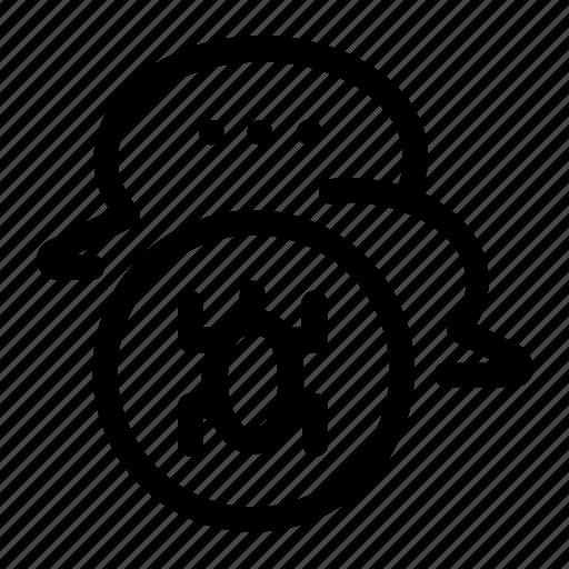 e-threat, message, message bug, message trojan, sms, trojan, virus icon