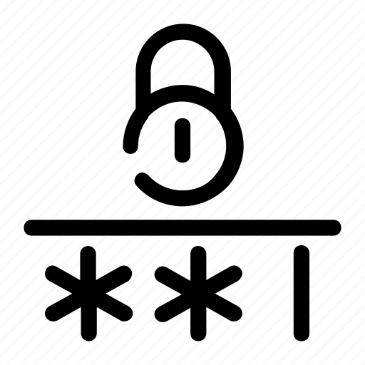 electronic lock, key word, lock, password, sign in icon