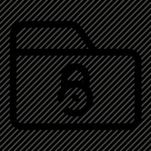 closed data, folder, locked, locked folder, secret files icon