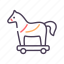 horse, security, trojan, virus icon