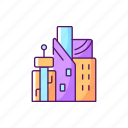 city, modern, futuristic, metropolis