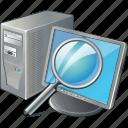 computer, lokas icon