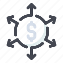 business, expansion, financial, plan, strategy icon