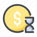 deposit, due, investment, payment, term, time icon